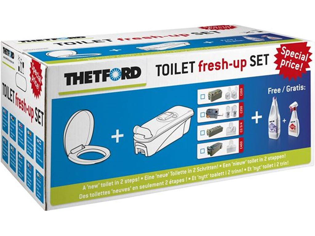 Acqua e Toilette Serbatoi WC e accessori THETFORD Kit Fresh Up Per Toilette C250
